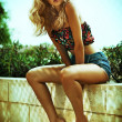 Стоковое фото: Summer photo of amazing blonde woman