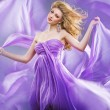 Stunning blonde like purple princess - Stock Photo
