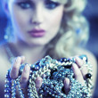 Stock Photo: Amazing blonde womwith jewelary