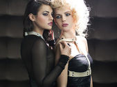 Excellent shot of two alluring women — Stock Photo