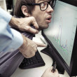 Office worker forced to work — Stockfoto