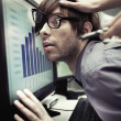 Office worker forced to work harder — Stock Photo