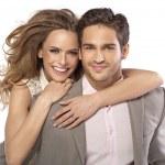 pareja sonriente — Foto de Stock