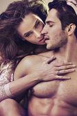 魅力的な若いカップルの写真をクローズ アップ — ストック写真