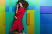Fashion shoot of young sexy woman — Stock Photo