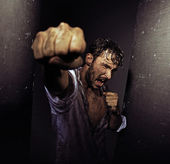 Fist of strong man — Foto Stock
