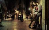 искусство фото красивый мужчина и его сексуальная леди — Стоковое фото