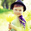Portrait of a little cute kid — Foto Stock