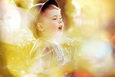 Bright picture of small cute kid — Stock Photo