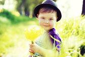 Portrait of a little cute kid — Stock Photo