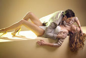 Fabulous picture of sensual young couple — Stock Photo
