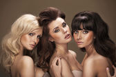 Trio of sensual young women — Stock Photo