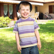 Fantastic picture of laughing kid — Stockfoto