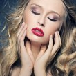 Perfect make-up of young lady — Stok fotoğraf