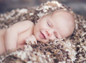 Portrait of cute smiling baby — Stock Photo