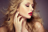 Attractive female model with pale complexion — Stock Photo