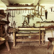 Stock Photo: An old repair room in rustic house