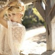 Fashion picture of sensual blonde girl — Stock Photo