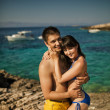 Young couple resting during honeymoon — Foto Stock
