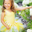 Stok fotoğraf: Photo of girl dressed up us butterfly
