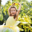 Portrait of cute small ballet dancer — Stock Photo