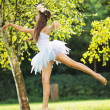 Picture presenting cute dancing young nymph — Stockfoto #31822111