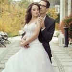 Calm and pleased wedding couple — Stock Photo