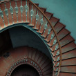Interior of the palace with the spiral stairs — Stock Photo