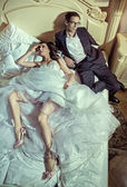 Fine picture of the wedding couple — Стоковое фото