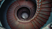 Great shot of ancient wooden stairs — Stock Photo