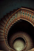 Art picture of wooden stairs — Stock Photo