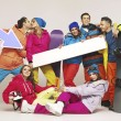 Picture of group of snowboarders — Foto de Stock