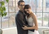 Portret szczęśliwy wesele para — Zdjęcie stockowe