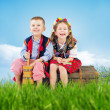 Little couple wearing national costumes — Stockfoto #41191687