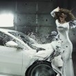 Stock Photo: Conceptual photo of crashed car