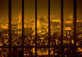 Night city in the yellow tone — Stock Photo