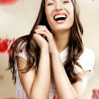 Close up portrait of cheerful young woman — Stock Photo #4292776