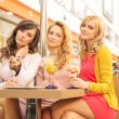 Pretty women at the meeting — Stock Photo