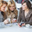 Female friends at the cofee time — Stock Photo