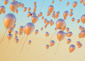 Fine photo of the golden balloons — Foto de Stock