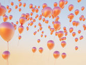 Colorful balloons flying up to the sky — Stock Photo