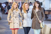 Group of young glad girlfriends — Stock Photo