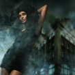 Horror style photo of a young lady — Stock Photo #4579293