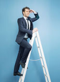 Businessman looking for the success — Stock Photo