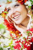 Beautiful blond lady having fabulous smile — Stock Photo
