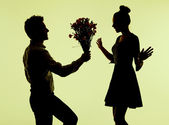 Charming woman surprised of the proposal — 图库照片