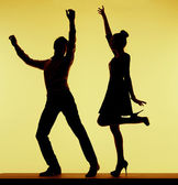 Best dancers in the whole music club — Stock Photo