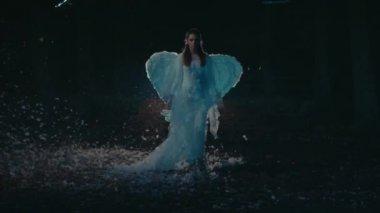 Woman angel — Stock Video