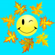 Smile and maple leaf 2 - Stock Vector