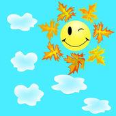 Sourire et maple leaf 3 — Vecteur